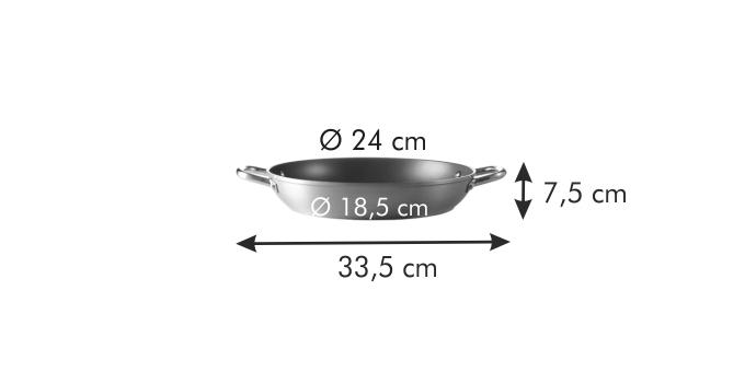 Глубокая сковорода GrandCHEF ø 24 см, 2 ручки