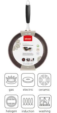 Сковорода-гриль с антипригарным покрытием, 26х26 см, NADOBA, серия MEDENA