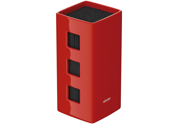 Универсальный керамический блок для ножей, красный, NADOBA, серия ESTA