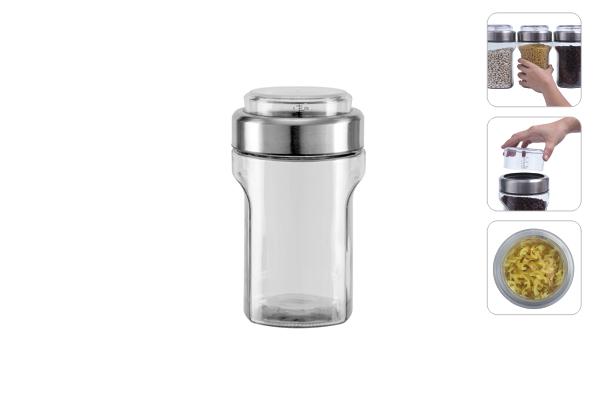 Ёмкость для сыпучих продуктов с мерным стаканом, 1,55 л, NADOBA, серия PETRA