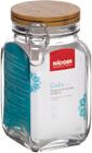Ёмкость для сыпучих продуктов с крышкой из бамбука с замком, 0,7 л, NADOBA, серия DASA
