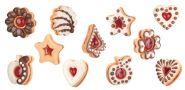 Формочки для традиционного песочного печенья DELICIA, 6шт
