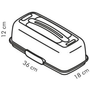 Охлаждающий поднос с крышкой DELICIA ¤ 36x18 см
