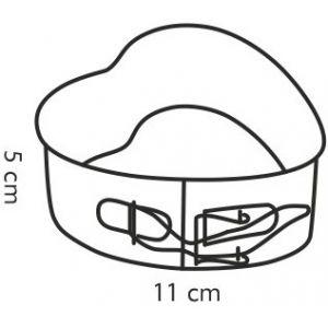 Форма сердце раскладная DELICIA 11x11 см