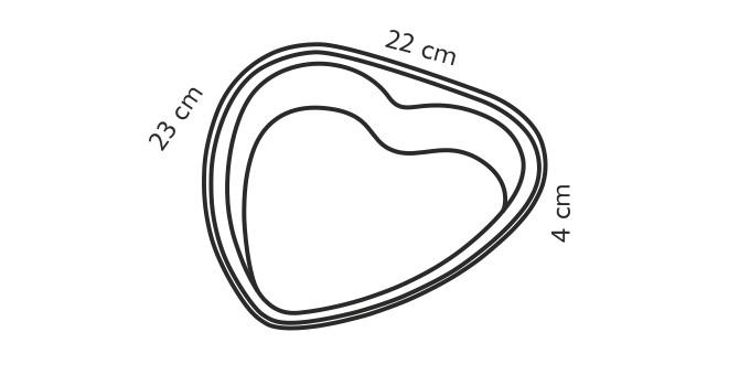 Форма в виде сердца DELICIA 23 х22см