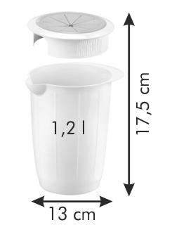 Емкость для смешивания с защитной крышкой DELICIA 1,2 л