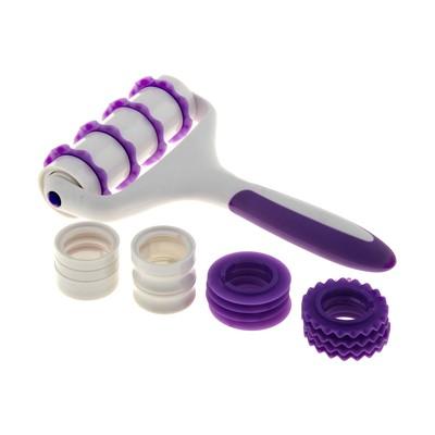 Валик для нарезки и тиснения теста  4 насадки