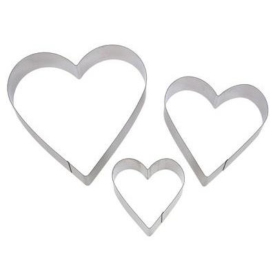 Набор форм для выпечки и формирования салатов Сердце, 3 шт