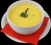 Крем-суп из топинамбура с копченым лососем