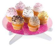 Подставка для торта DELICIA, розовые листочки