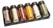 Емкости для специй для выдвижного ящика SEASON 6 шт., антрацитовые