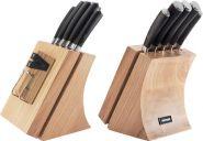 Набор из 5 кухонных ножей и блока для ножей с ножеточкой